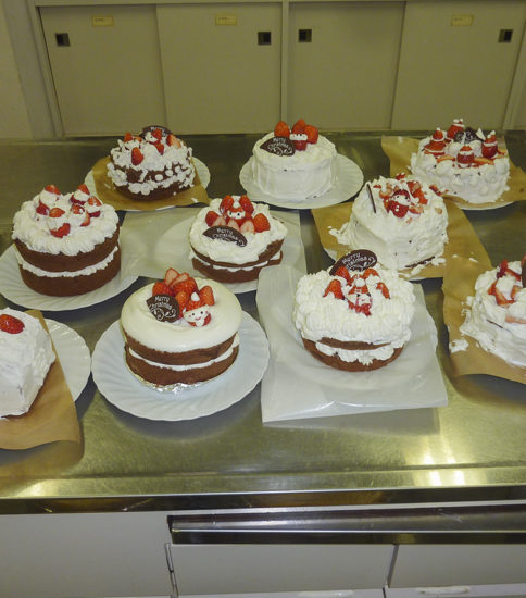 12月のイベント(ケーキ作り)